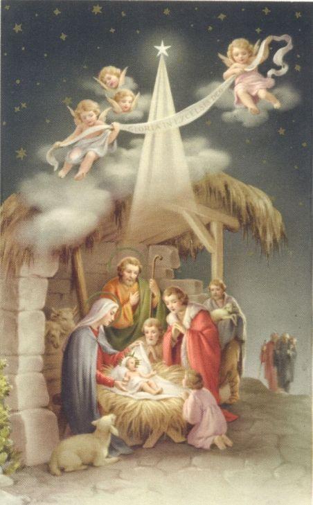 Oude kerstkaarten 2 - Elfen & Boeken: