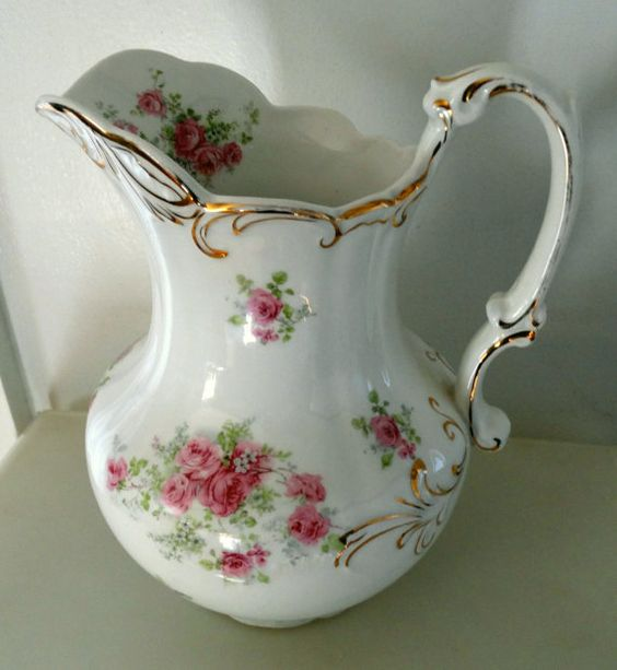RESERVED for caspiansmom  Semi-Porcelain Pitcher by KingsOfMaine