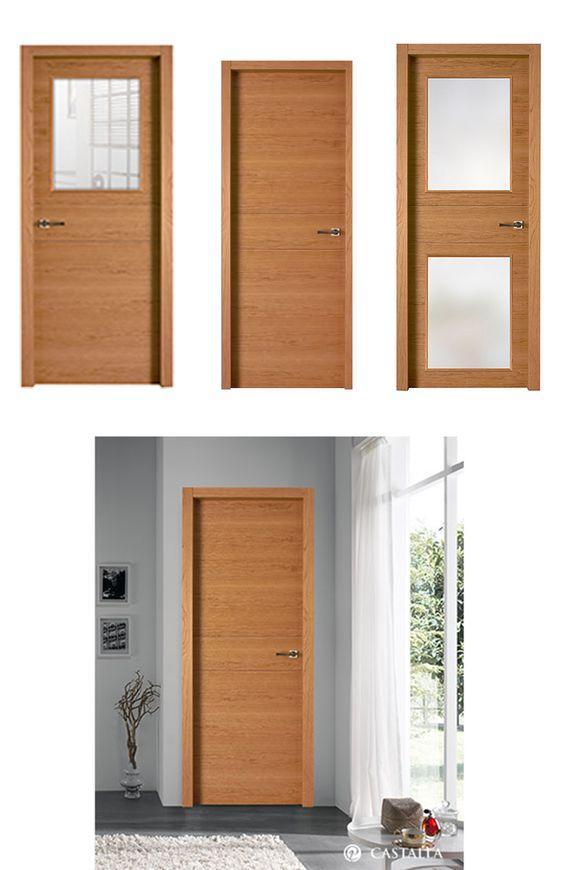 puerta de interior madera clara modelo sena de la serie