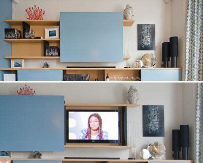 un meuble pour dissimuler la tv armoire salon tv pinterest tvs et t l vision. Black Bedroom Furniture Sets. Home Design Ideas