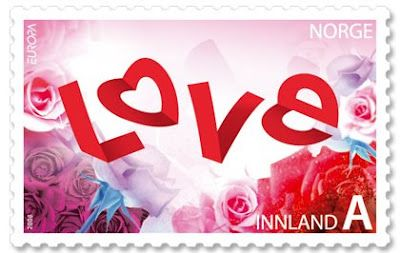 Love stamp from Norway