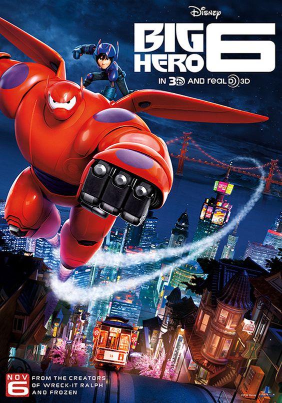 Big Hero 6 die moet ik zien en het is van de makers van Frozen, Wreck It Ralph en Tangled.
