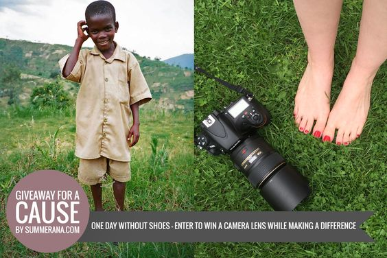 #ONEDAYWITHOUTSHOES – Giveaway for a Cause | Summerana™ - Photoshop Actions for Photographers
