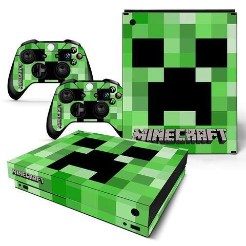 Minecraft Creepy Creeper Green Design Xbox One X Console Skin Xbox One Games Xbox One Xbox
