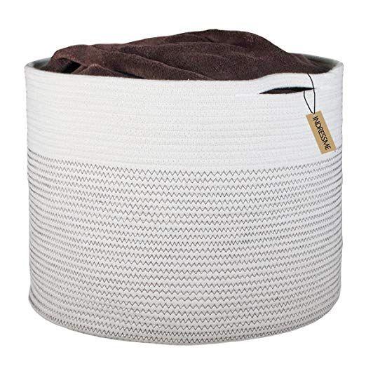 Amazon Com Indressme Extra Large Storage Baskets Cotton Rope