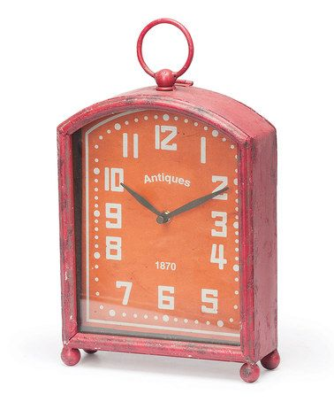 Take a look at this Clementine Viola Clock by Foreside on #zulily today!