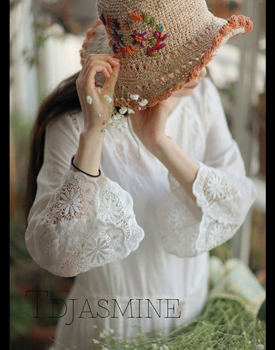 White Dress With Sleeve Dressy Embroidered