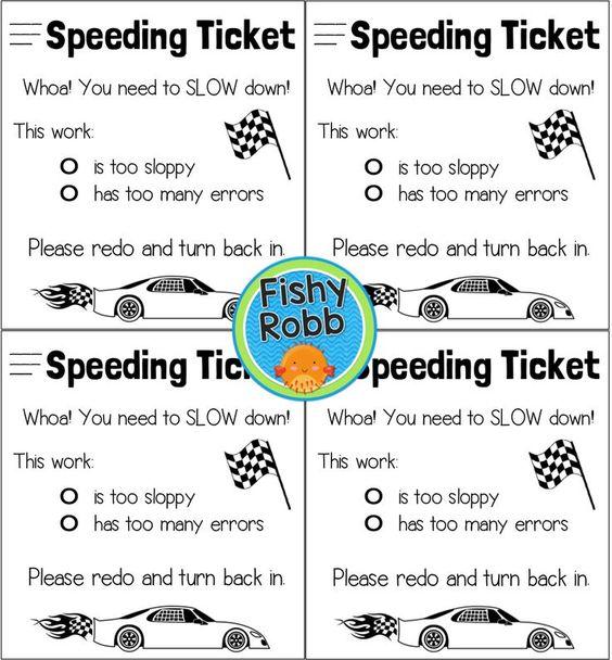 FREEBIE Speeding ticket for sloppy work