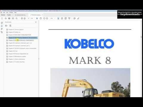 Kobelco Mark 8 Series Sk350 Excavators Service Repair Workshop Manual Do Excavator Manual Repair