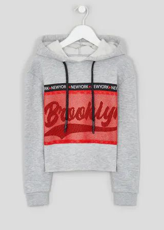 Girls Candy Couture Cropped Hoodie (9 16yrs)