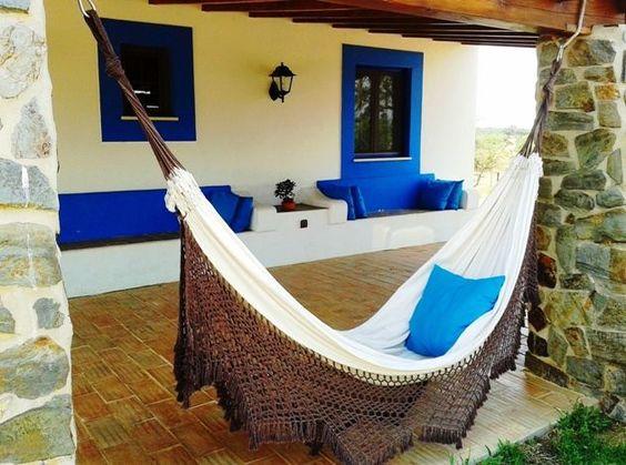 Aluguer de casa rústica para férias em Santiago do Cacém (Vila) - Monte Azul - Cama de Rede