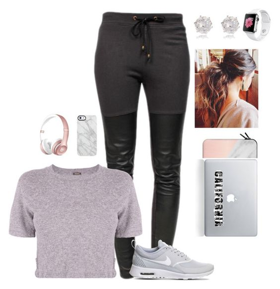 """""""No school"""" by jaslyn101 ❤ liked on Polyvore featuring Ragdoll, Monrow, NIKE, Casetify, Vinyl Revolution, River Island and Uncommon"""