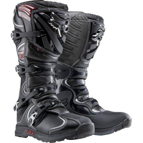 Fox Racing Comp 5 Men's Motocross/Off-Road/Dirt Bike Motorcycle Boots - Color: Black, Size: 9