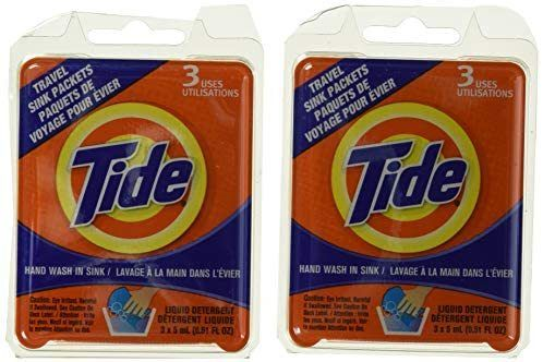 Image Of Tide 3 Count Travel Liquid Detergent Sink Packets 2 00