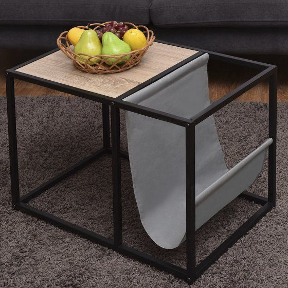 Gymax End Table Side Accent Metal Magazine Organizer Living Room Office Walmart Com Metal End Tables House Beautiful Magazine Kitchen End Tables
