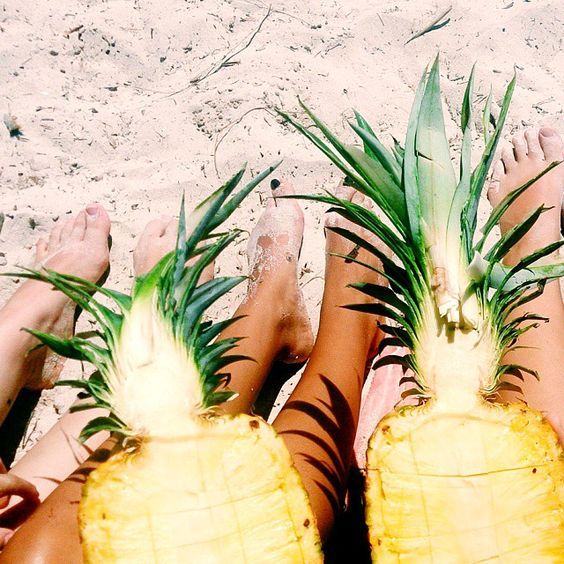 #Twins #Pineapples #Beach #Summer #Holiday: