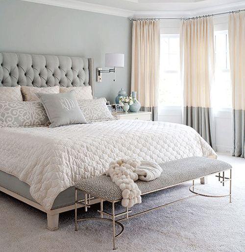kleines schlafzimmer grau weiiß teppichboden pendlleuchten neben - teppichbode schlafzimmer grau