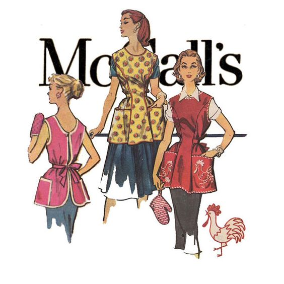 1950s+Apron+Pattern+McCalls+2133+Bust+31+to+by+CynicalGirl+on+Etsy,+$18.00