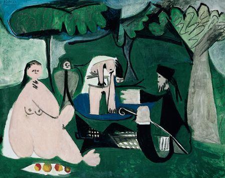 """Pablo Picasso """"Le Déjeuner sur l'herbe d'après Manet"""" 1960"""
