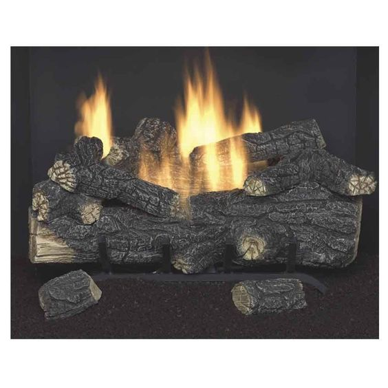 Emberglow Savannah Oak 24 In Vent Free Natural Gas Fireplace Logs With Remote Scvfr24n At The