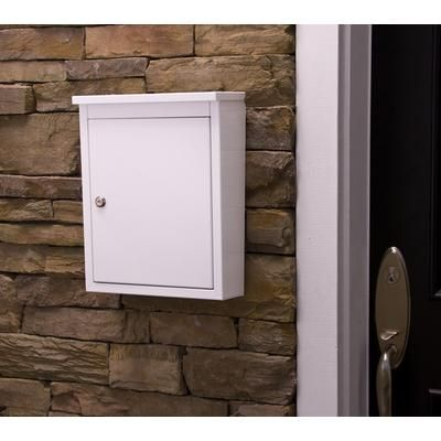 Architectural Mailboxes - Soho Locking Wall Mount Mailbox White - 2480W - Home Depot Canada