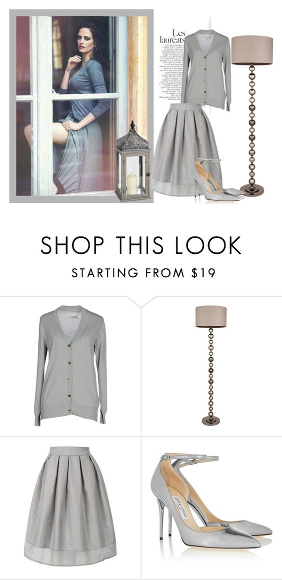 """Eva's Cardignan"" by danewhite ❤ liked on Polyvore featuring Maison Margiela and Jimmy Choo"