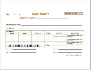 Cash Deposit Receipt at httpwwwreceiptstemplatescomdeposit