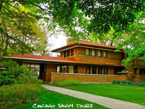 Harry Adams House Oak Park Illinois 1913 Frank Lloyd