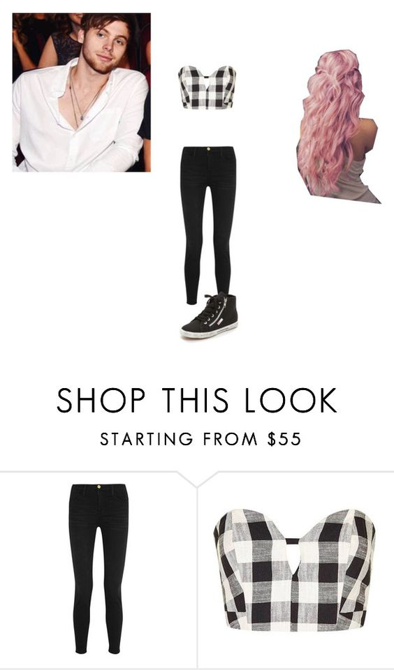 """""""love you babe (Luke Hemmings)"""" by ariel-spina-913 ❤ liked on Polyvore featuring Frame Denim, Topshop and Superga"""