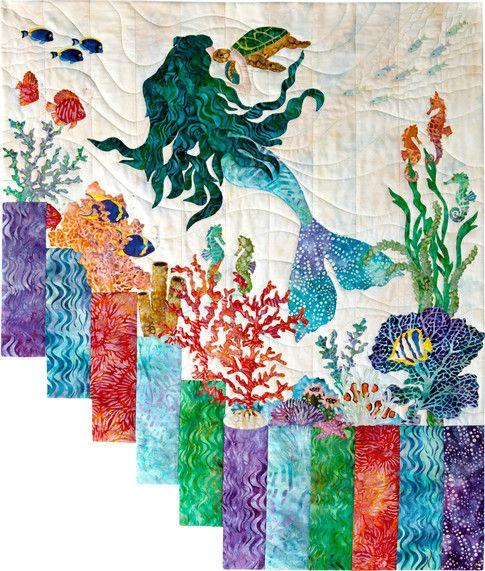 Mermaid Kisses designed by McKenna Ryan. Features Tigerfish by McKenna Ryan, shipping to stores October 2016. #artisanbatiks