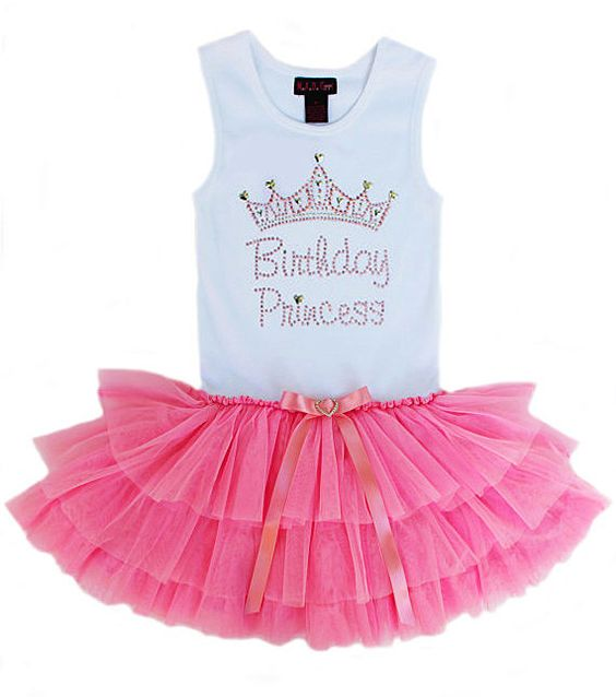 Birthday Princess Tutu Dress Party Dress Girls Couture by madgrrl