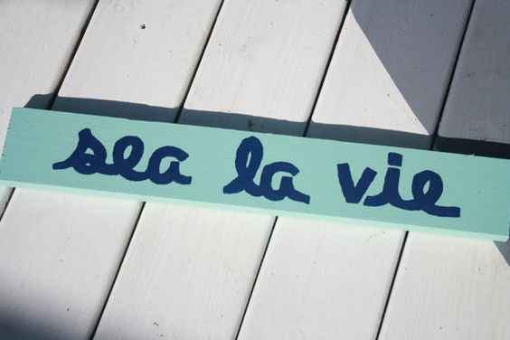 Sea La Vie Navy Sign by SaltyKisses3 on Etsy, $20.00