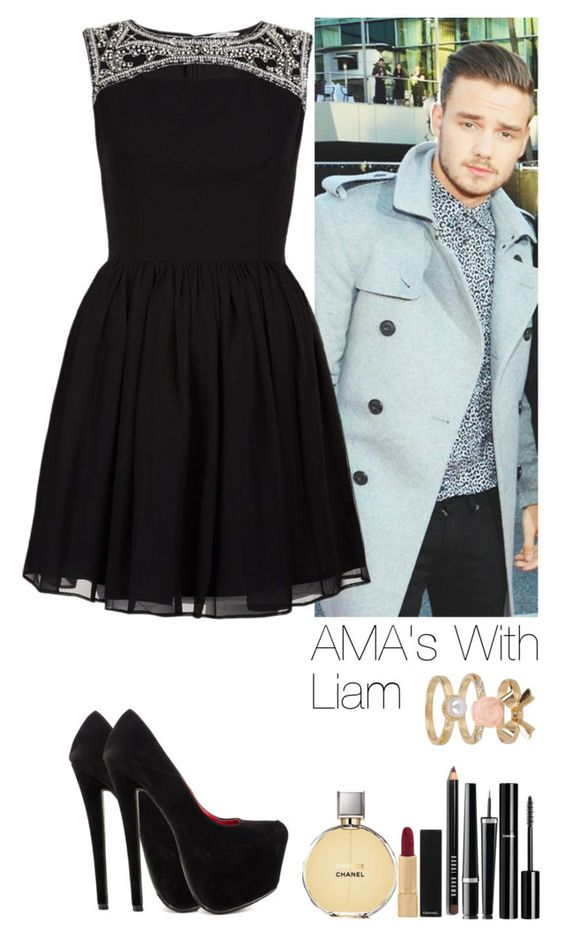 """""""AMA's With Liam"""" by heslovely ❤ liked on Polyvore featuring Shoe Republic LA, Chanel, Bobbi Brown Cosmetics, Forever 21, women's clothing, women's fashion, women, female, woman and misses"""