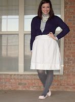 Target turtleneck & tights NY shoes Forever21 Cardigan & necklaces