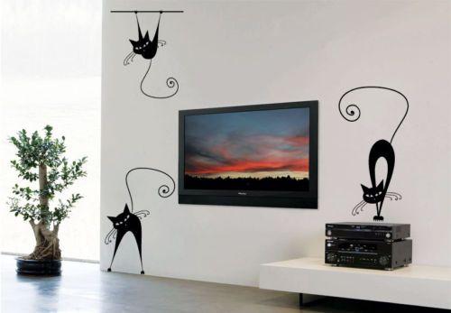 Cat-Animal-Children-Art-Wall-Stickers-Wall-Decals-9-pcs