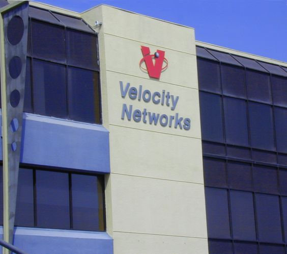 Velocity Networks, logo designed by Rick Plumley at BrandZing.