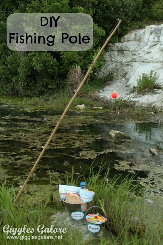 Summer camp diy fishing pole mondays camps and note for Fishing summer camp