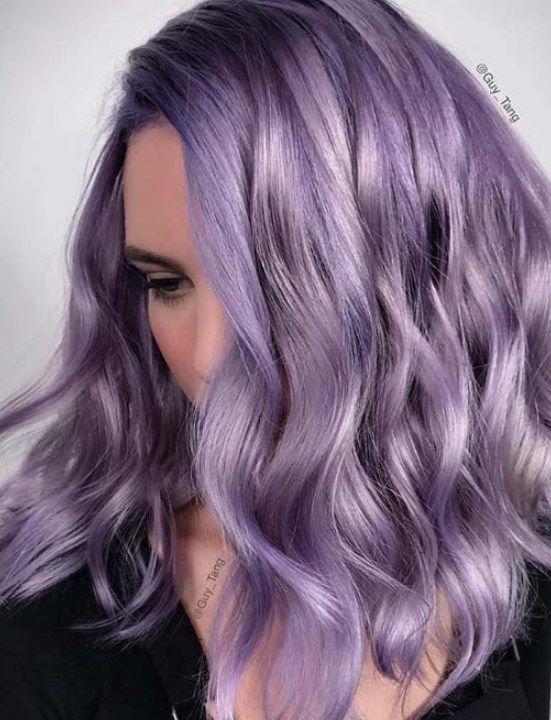 Lavender Hair Ideas Warm Cold Olive Skin Tones Leylak Sac