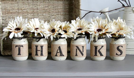Thanksgiving Table Decor,Thanksgiving Centerpiece, THANKS -  - 1: