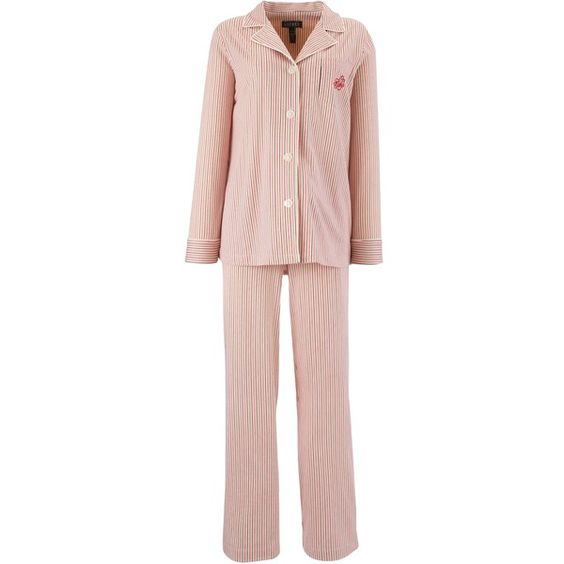Lauren by Ralph Lauren Bingham Knit Pyjama Set, Multi ($150) found on Polyvore