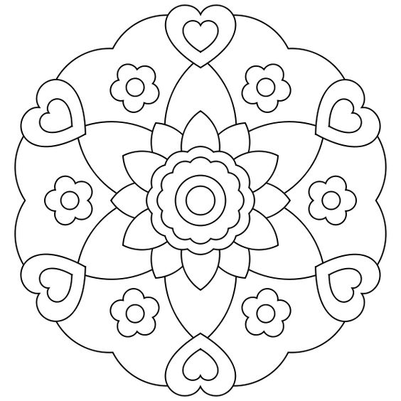 free simple mandala coloring pages to print one of the free simple mandala coloring pages 4118 for your kids to print out and find similar of free simple