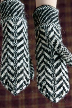 Lithuanian Knitting Patterns : Traditional Lithuanian Pattern Mittens - Knitting Daily Stuff I like Pint...