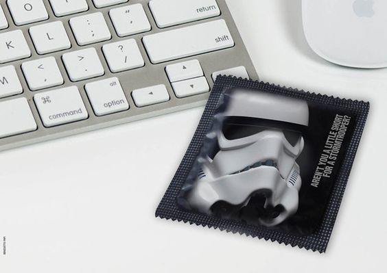 May the condoms be with you by Benedetto Papi, via Behance