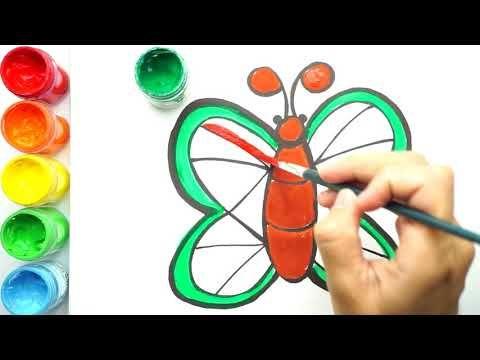1 Colorful Butterfly Cara Melukis Dan Mewarna Rama Rama Happy Doodle 2019 Youtube Lukisan Buku Mewarnai Warna
