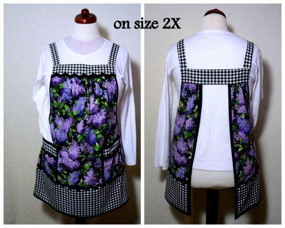 Hey, I found this really awesome Etsy listing at https://www.etsy.com/listing/182209558/lilacs-gingham-classic-apron-loose