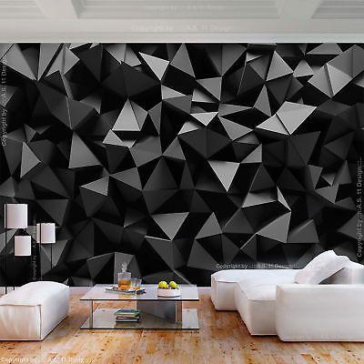 Vlies Fototapete Abstrakt Schwarz 3d Effekt Tapete Wandbilder Xxl Wohnzimmer 89 Tapete Wohnzimmer Spielzimmerdekoration Fliesen Tapete
