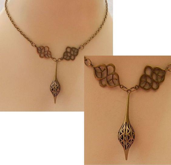 Gold Celtic Knot Pendant Necklace Jewelry Handmade Accessories Adjustable NEW #Handmade #Pendant