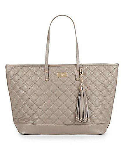 Bcbg Paris Newrise Quilted Tote Handbag Taupe Designer Handbags