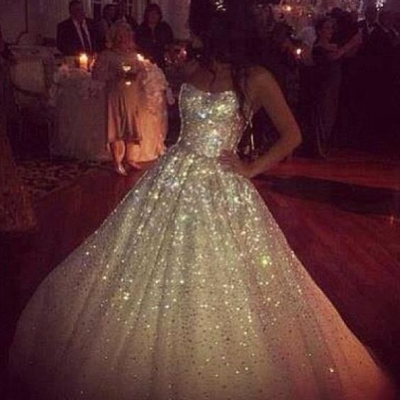 Wedding i am and glitter on pinterest for Wedding dresses with sparkles