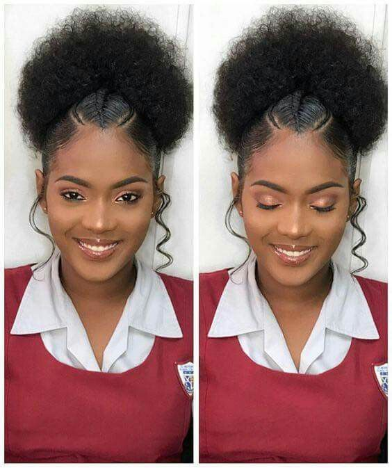 Protective Hairstyles For Transitioning Protective Braid Styles Protective Styles Braided Tran Natural Hair Styles Easy Natural Hair Styles Curly Hair Styles